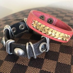 🌺 4/$20 Leather Cuff Bracelets Studded Well Loved